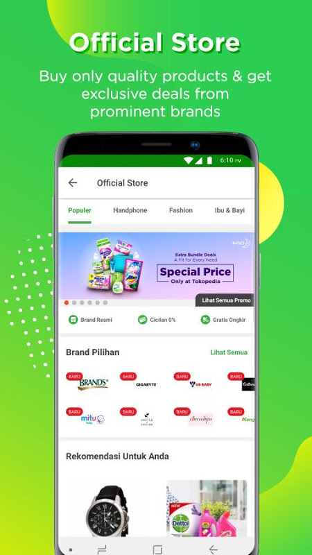 Android Tokopedia - Online Shopping & Mobile Recharge Screen 3