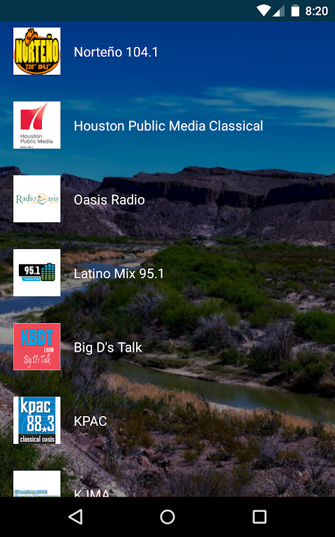 Android Texas Radio Stations Screen 1