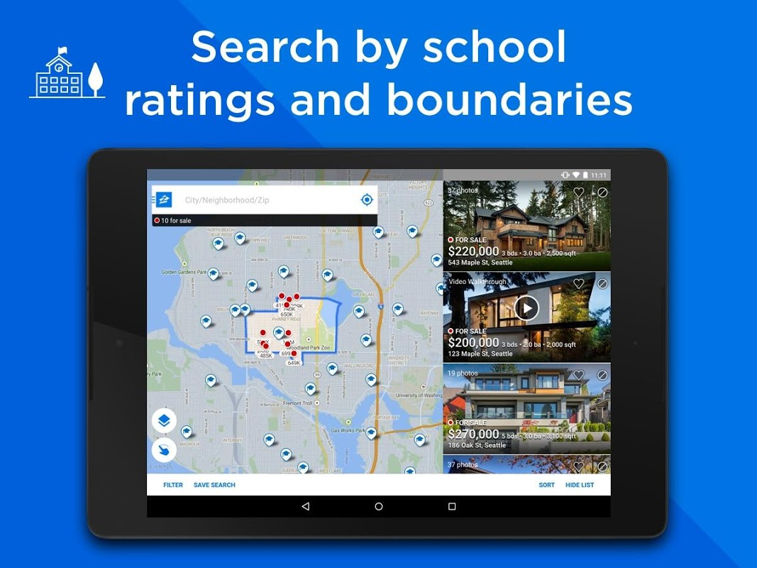 Android Zillow: Find Houses for Sale & Apartments for Rent Screen 2