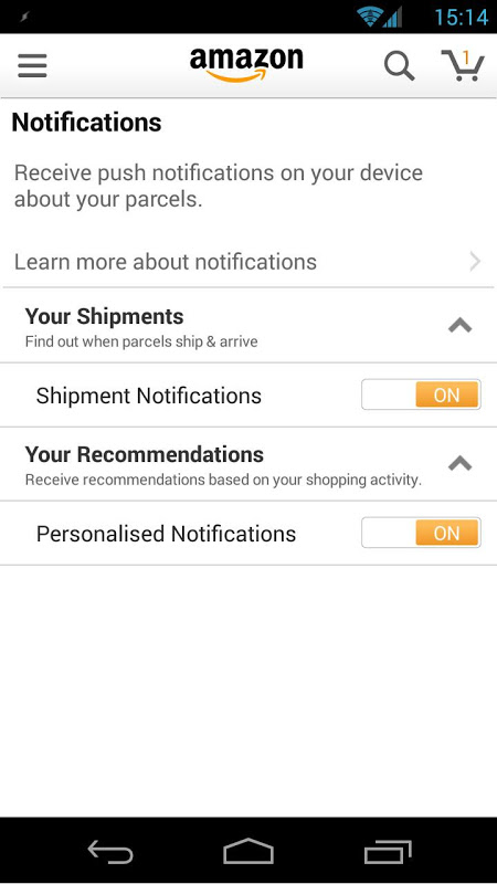 Amazon Shopping 12.5.0.100 Screen 1