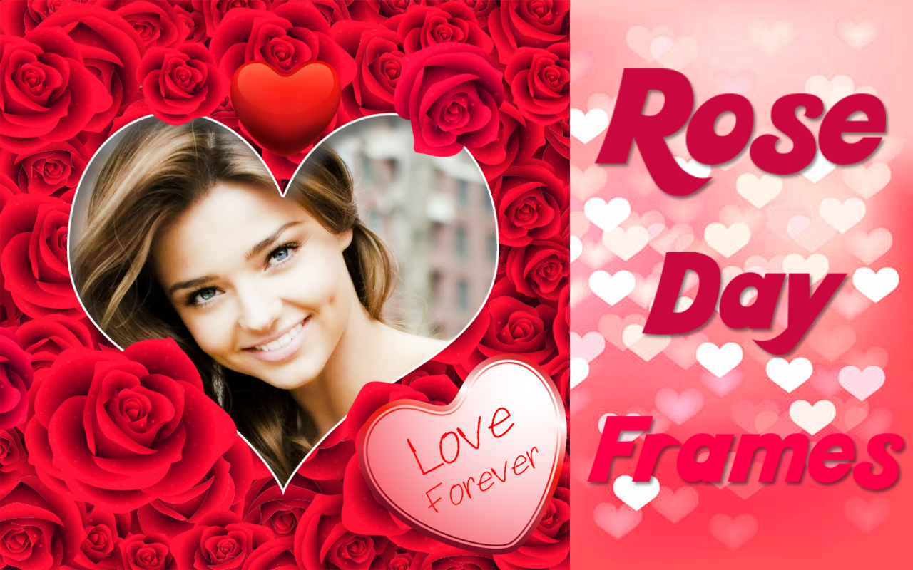 Android Rose Day Frames Screen 1