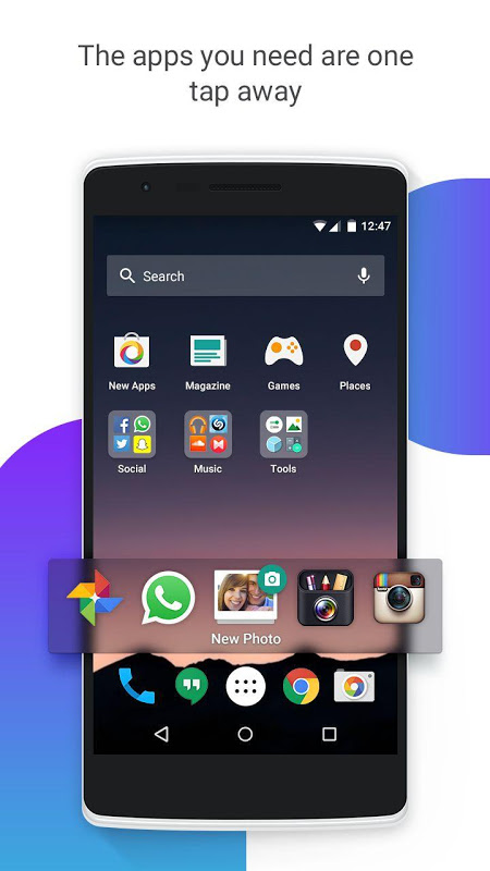 Android EverythingMe Launcher Screen 3