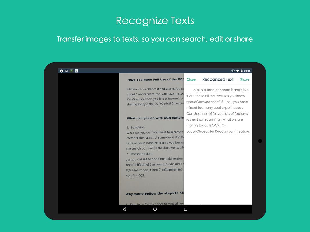Android CamScanner -Phone PDF Creator Screen 9