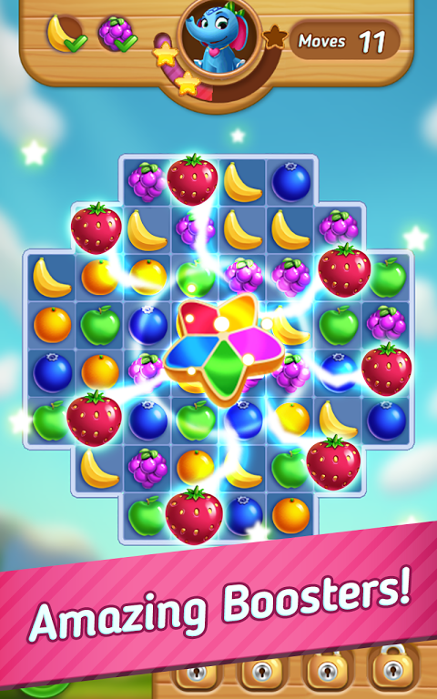 Android Fruits Mania : Elly's travel Screen 1