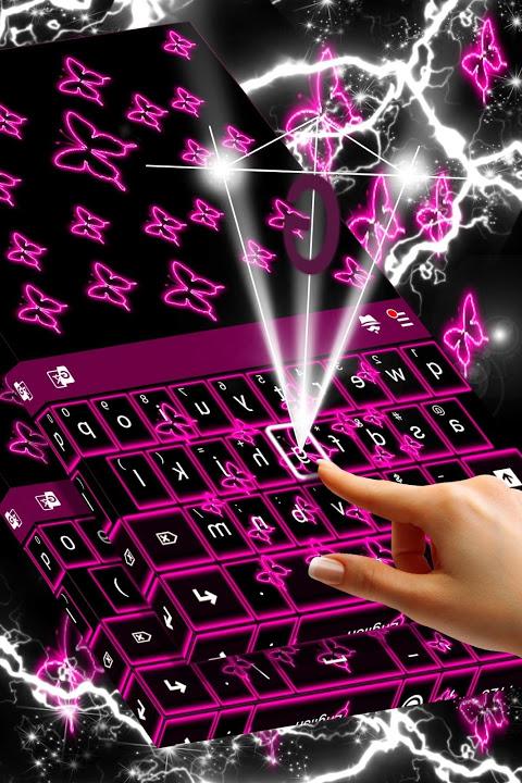 Neon Butterflies Keyboard 1.307.1.155 Screen 1