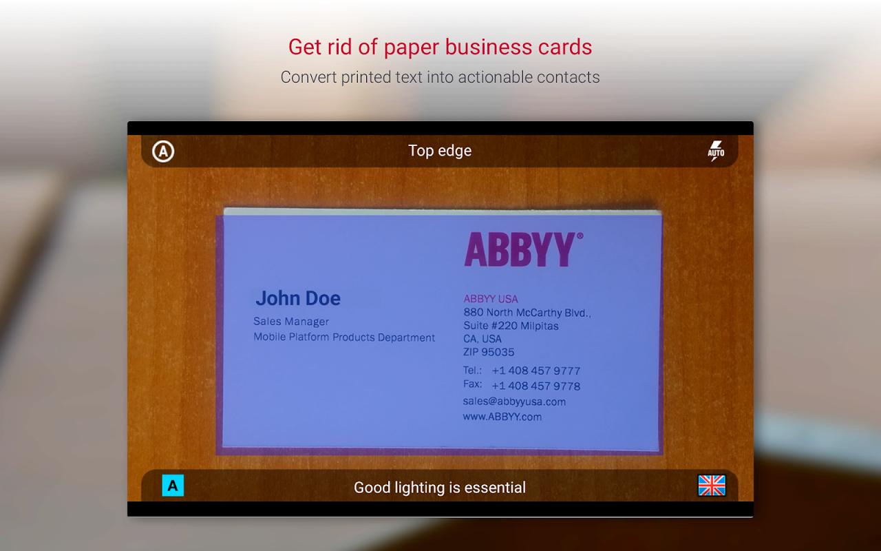 Business Card Reader Pro - Business Card Scanner 4.7.621 Screen 5