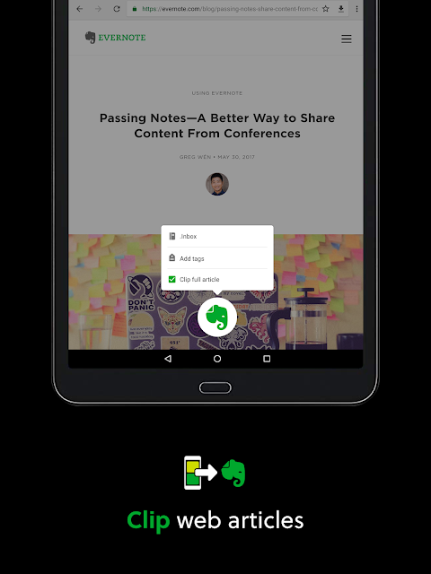 Android Evernote - stay organized. Screen 5
