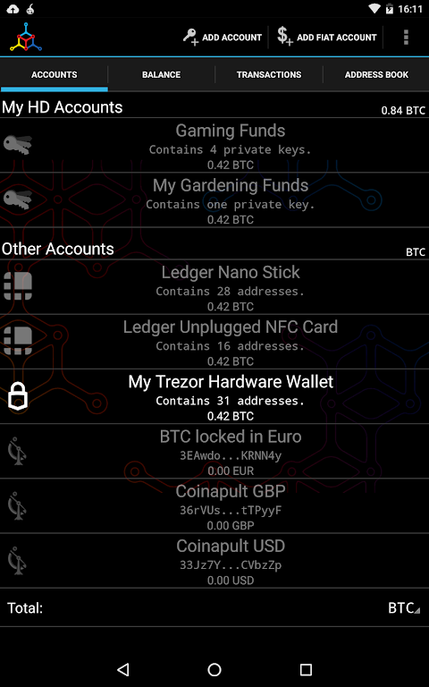 Android Mycelium Bitcoin Wallet Screen 8