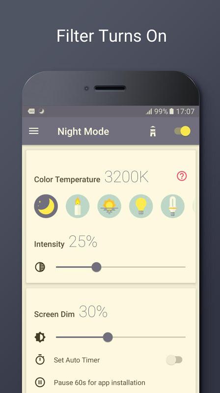 Blue Light Filter - Night Mode, Eye Care 1.4.2N Screen 2