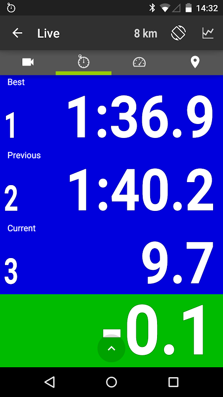 Android RaceChrono Pro Screen 1