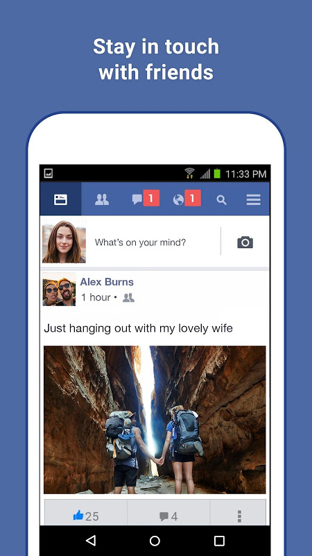 Facebook Lite 30.0.0.8.65 Screen 1