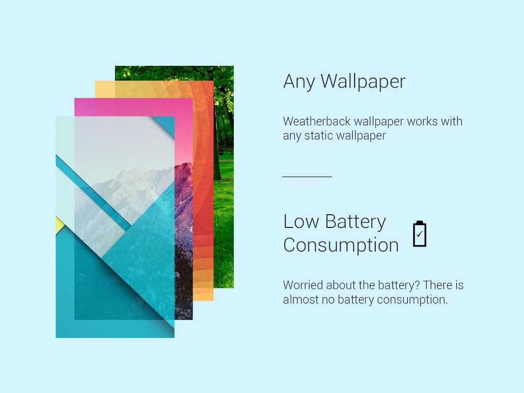 Android Weather: Weatherback, Effects on your homescreen Screen 2