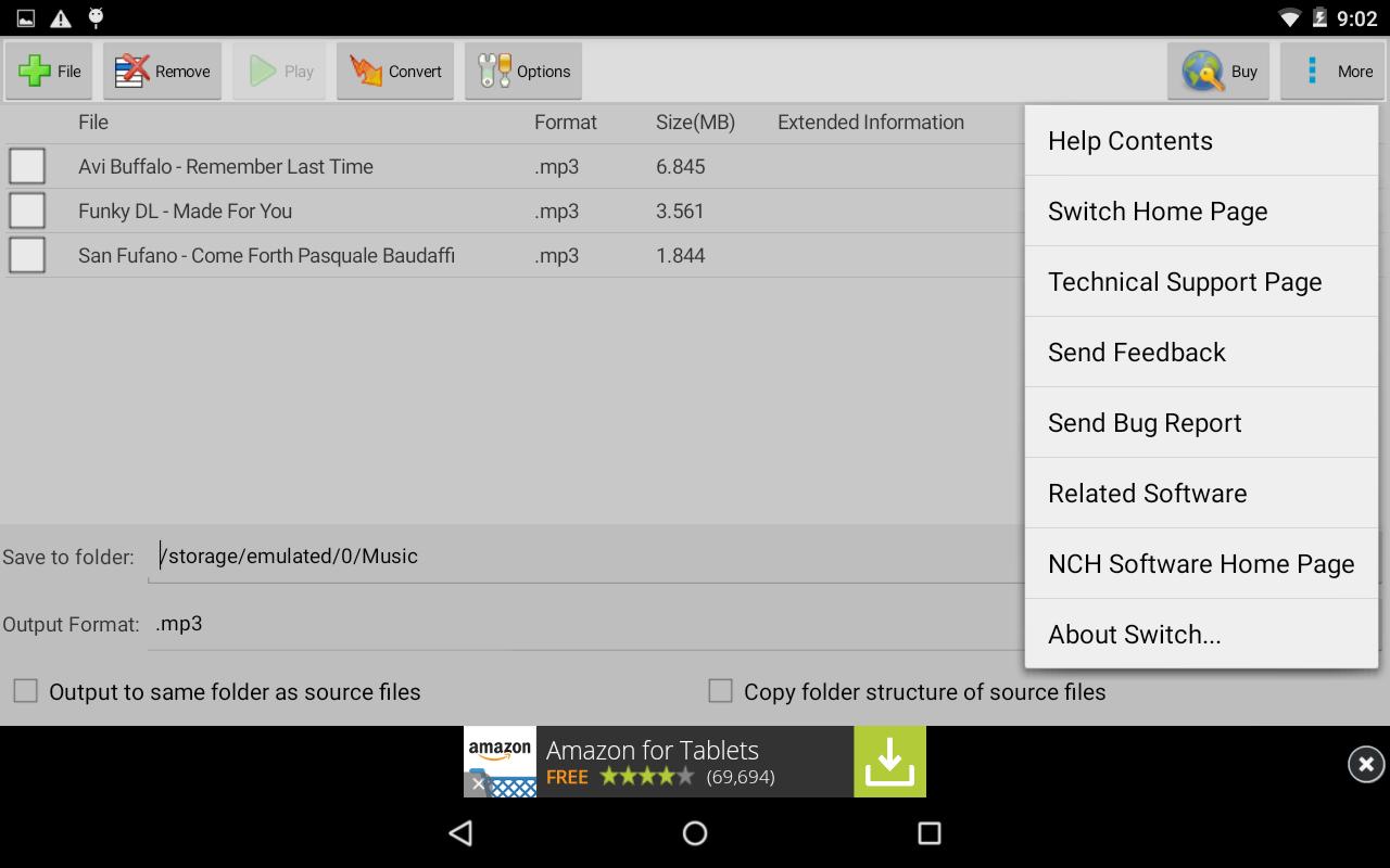 Switch Audio Converter Free 6.47 Screen 2