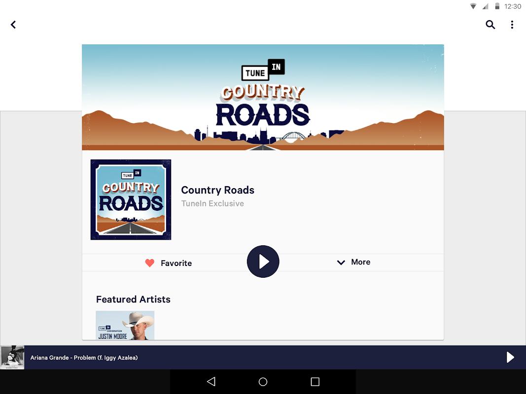 Android TuneIn Radio Screen 4