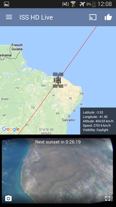 Android ISS HD Live: View Earth Live Screen 6