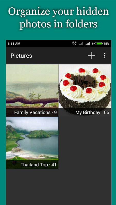 Android Hide Photos, Video-Hide it Pro Screen 2