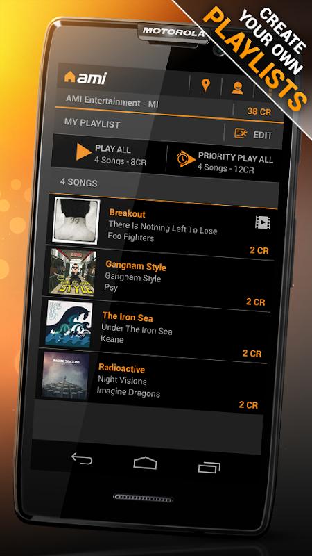AMI Music (formerly BarLink) 2.28.1 Screen 2