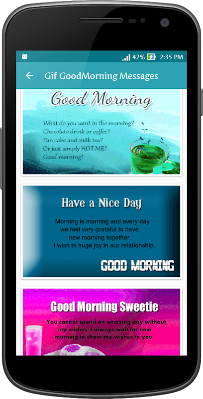 Android Gif Good Morning Messages Collection Screen 11
