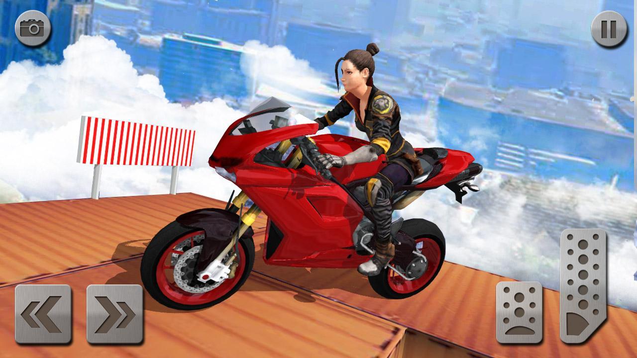 Android Impossible Mega Ramp Moto Bike Rider: Superhero 3D Screen 2