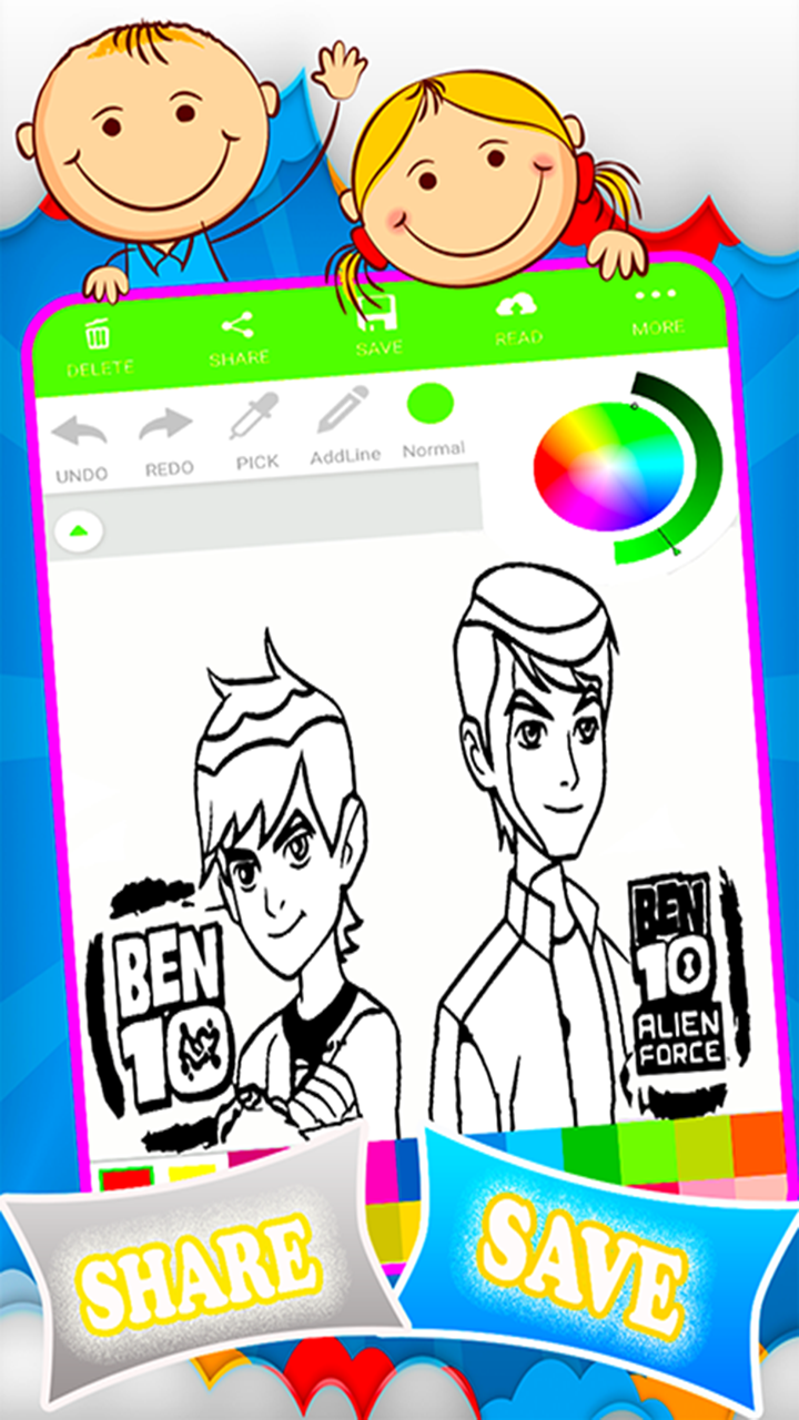 Android Coloring Ben 10 Games Screen 3