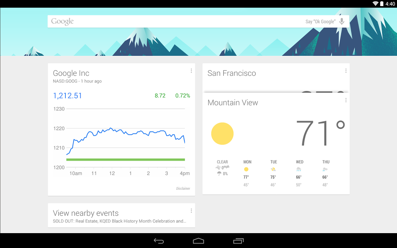 Google Now Launcher 1.4.large Screen 1