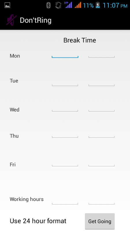 Android NotNow(Profile Manager) Screen 1
