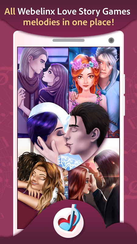 Love Story Games Melodies 1.0.3 Screen 1