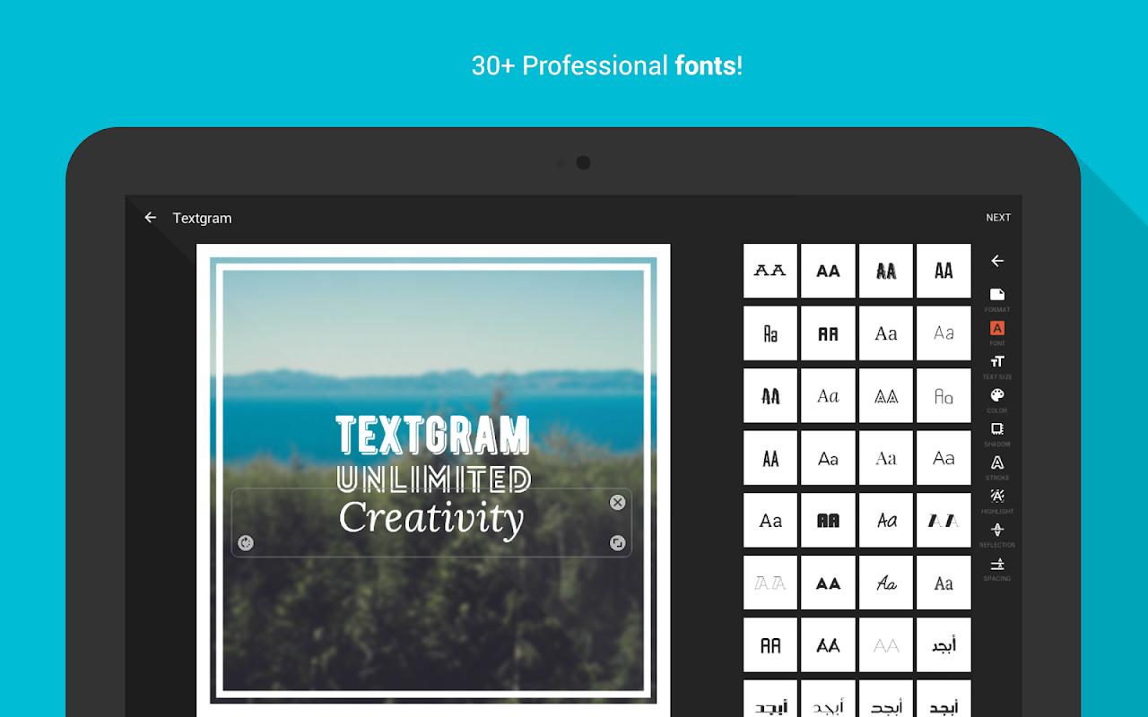 Android Textgram - write on photos Screen 11
