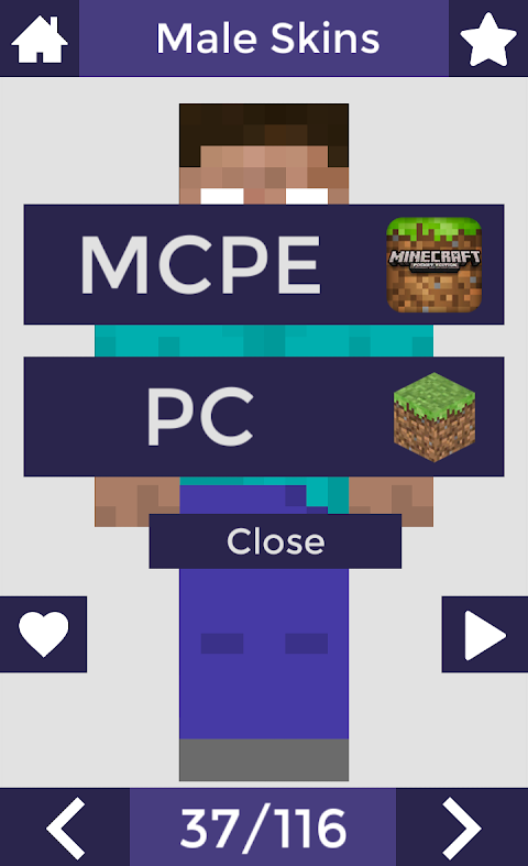 Skins for Minecraft PE 6 Screen 3