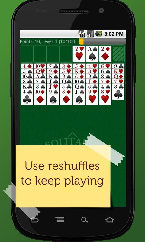 Android FreeCell Solitaire Champion Screen 2