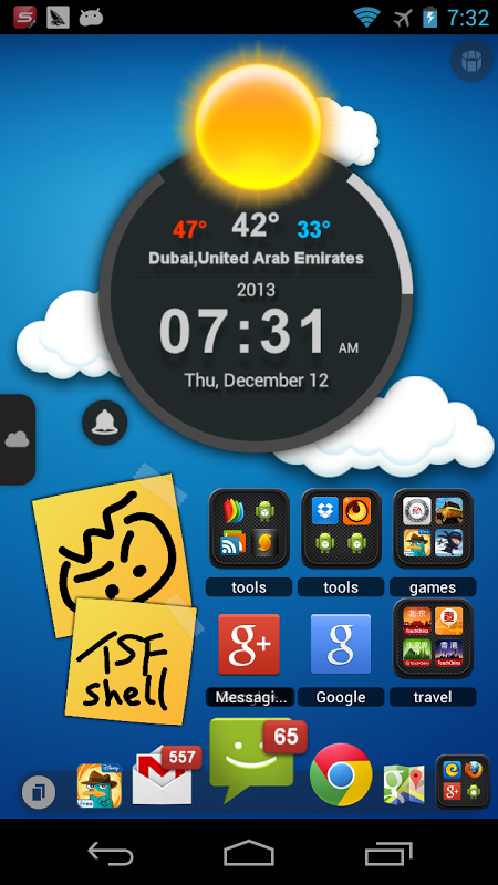 Android TSF Launcher 3D Shell Screen 5