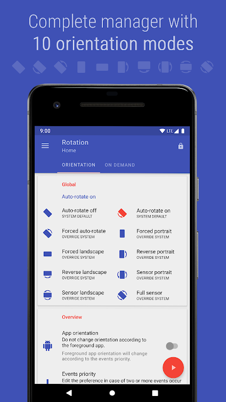 Android Rotation - Orientation Manager Screen 13