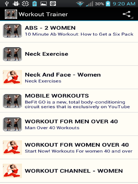 Android Workout Trainer Screen 17