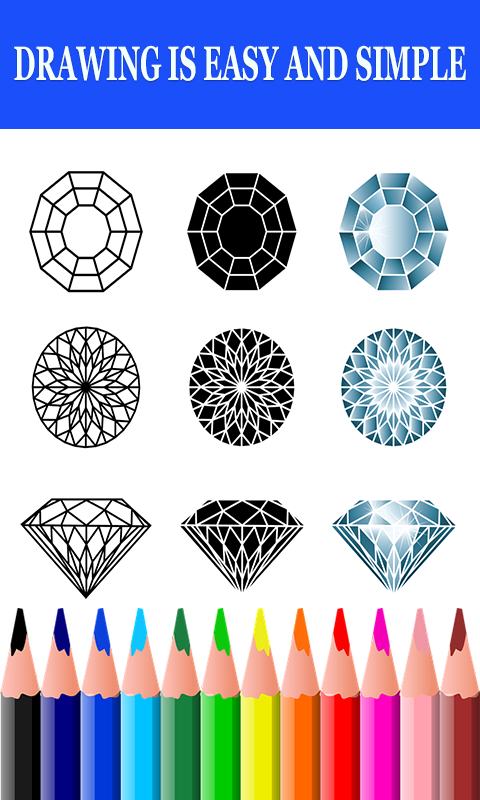 Android Coloring book Diamond and stress reliever Screen 1