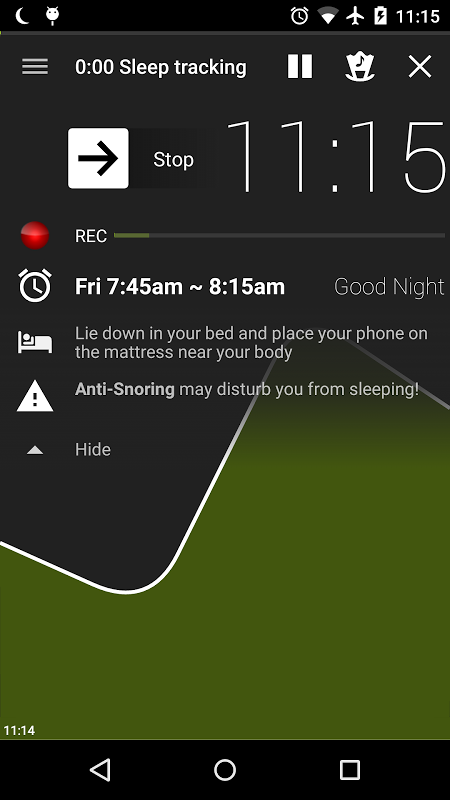 Android Sleep as Android Screen 26