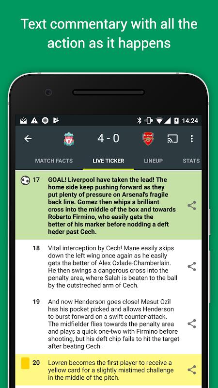 Android FotMob Screen 3