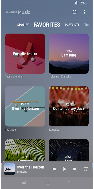 Android Samsung Music Screen 1