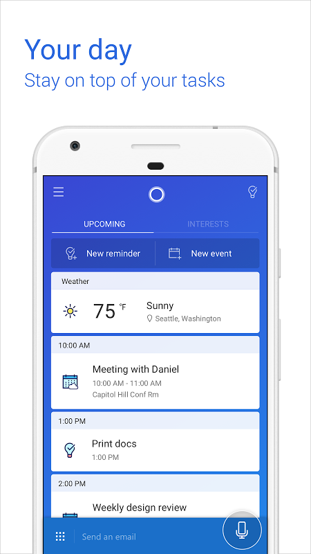 Android Cortana for Android (Unreleased) Screen 5