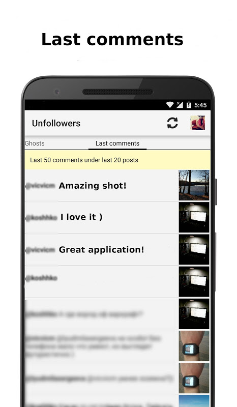 Unfollowers for Instagram 2.6.9 Screen 5