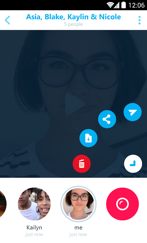 Android Skype Qik Screen 4