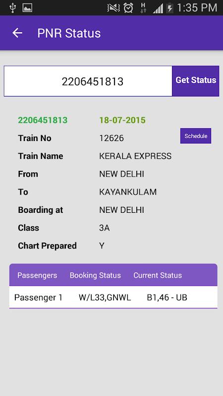 Live Train Status 29.0 Screen 5