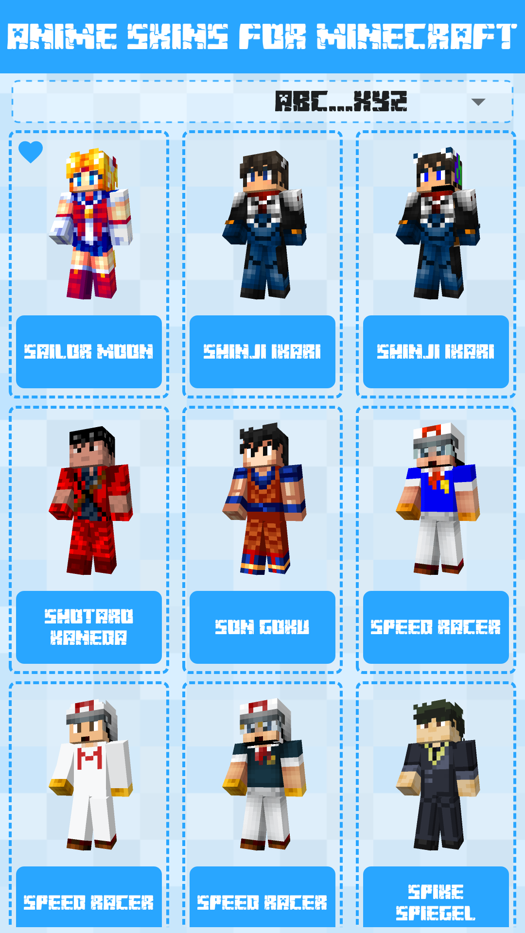 Android Anime Skins for Minecraft PE Screen 1