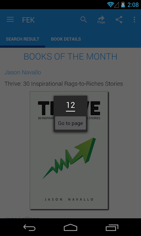 Android Free eBooks for Kindle Screen 6