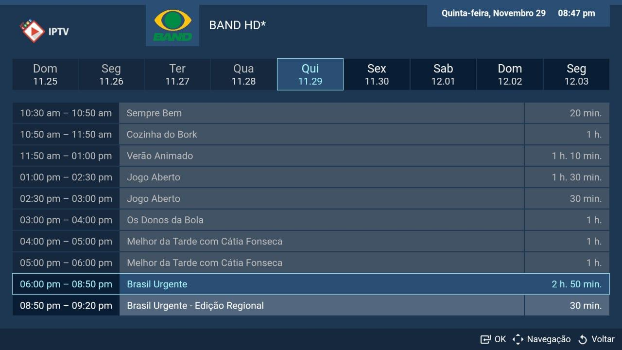 Android LIVE IPTV BR -  PRO Screen 5