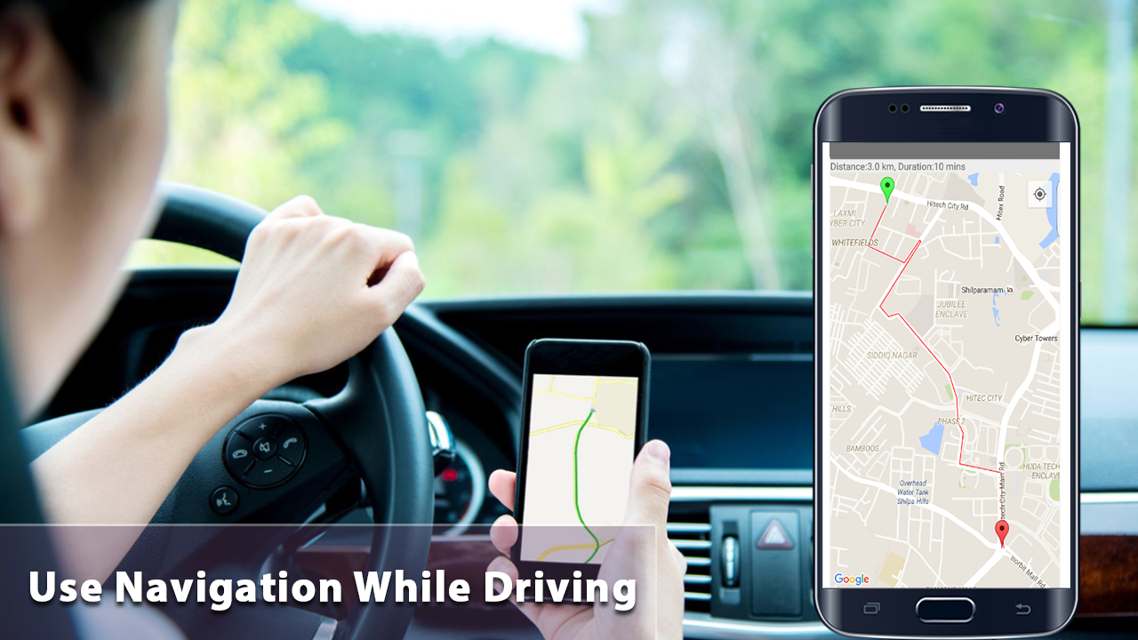 Android Voice GPS Navigator Driving Directions Screen 2