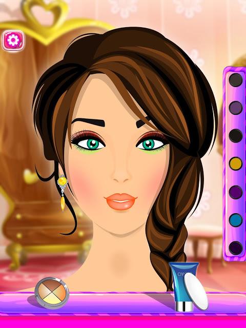 Android Fashion Makeover Salon: Princess Makeup Screen 1