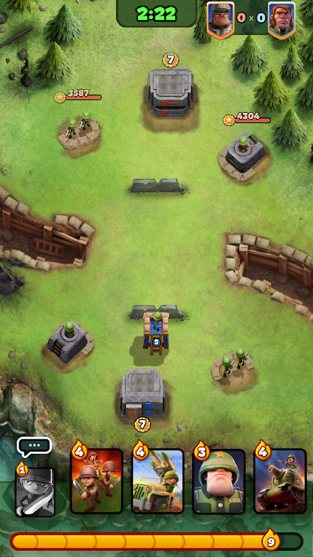 Android War Heroes: Strategy Card Game for Free Screen 7