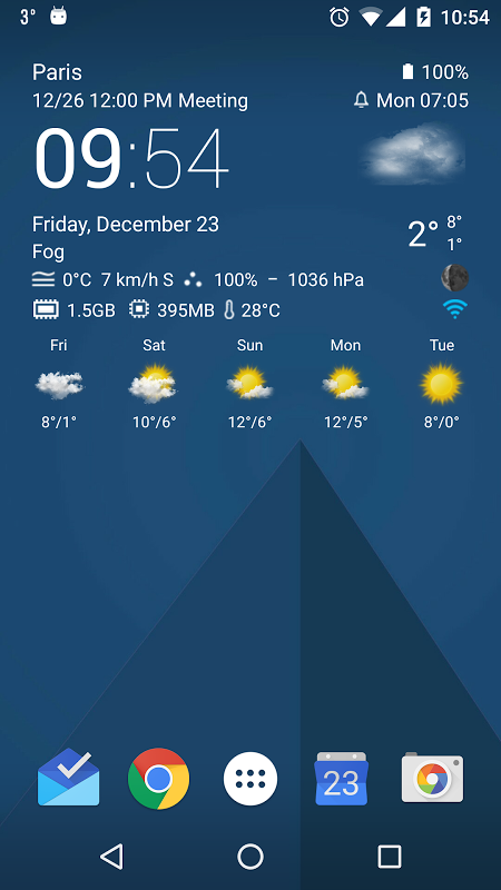 Transparent clock weather Pro 0.99.02.39 Screen 4