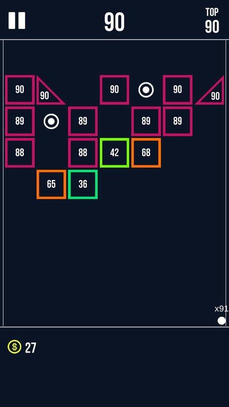 Android Brick Breaker Screen 2