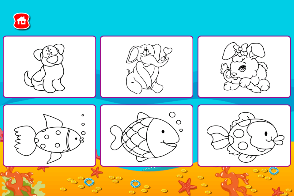 Android Kids Paint Color Book Screen 2
